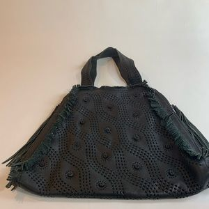 Francesco Biasia Black Leather Bag